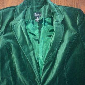 🌟NEW🌟 Emerald Green Velvet Blazer 1X NY Coll.
